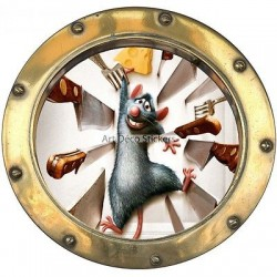 Sticker hublot enfant Ratatouille réf 9554
