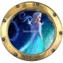 Sticker hublot enfant La Reine des Neiges réf 9553