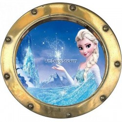 Sticker hublot enfant La Reine des Neiges 9542