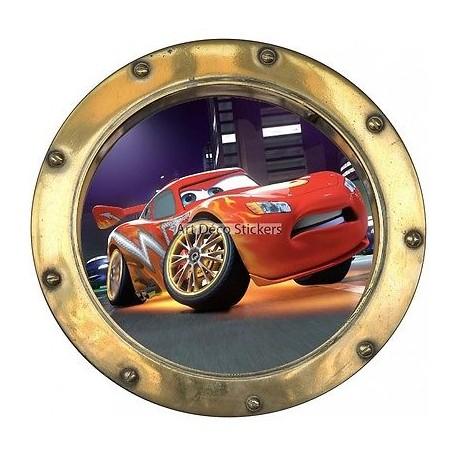 Sticker hublot enfant Cars 9538