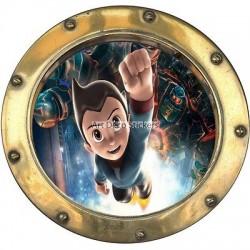 Sticker hublot enfant Super Héros 9535