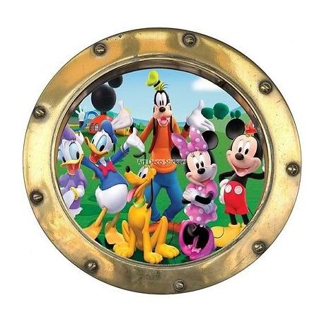 Sticker hublot enfant La Bande a Mickey 9531
