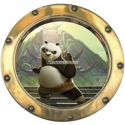 Sticker hublot enfant Kun fu Panda 9521