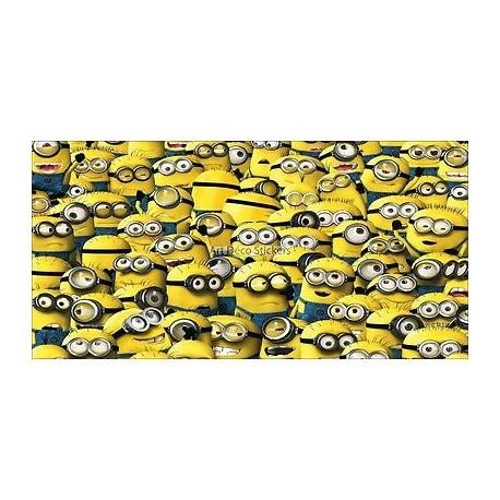 Stickers chambre d'enfant tête de lit Moi Moche Méchant réf 8503
