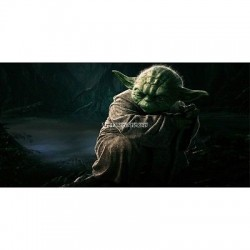 Stickers chambre d'enfant tête de lit Star Wars Yoda réf 8501