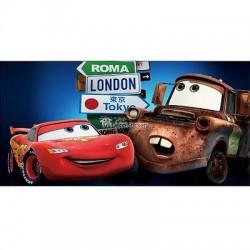Stickers chambre d'enfant tête de lit CARS réf 8498