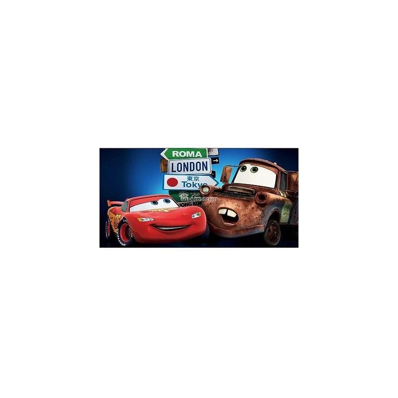 Stickers chambre d 39 enfant t te de lit cars r f 8498 for Chambre enfant cars