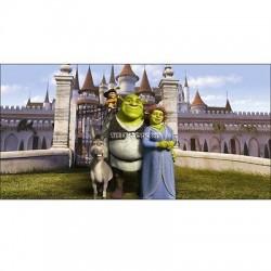 Stickers chambre d'enfant tête de lit Shrek réf 8486