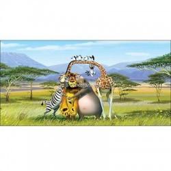 Stickers chambre d'enfant tête de lit Madagascar réf 8480