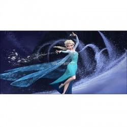 Stickers chambre d'enfant tête de lit La reine des Neiges réf 8473