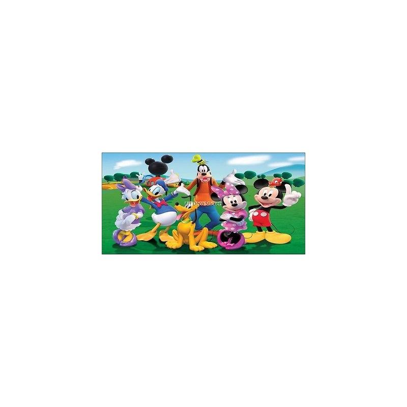 Stickers chambre d 39 enfant t te de lit mickey et sa bande - Stickers chambre d enfant ...