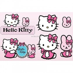 Stickers enfant planche de stickers Hello Kitty réf 9541
