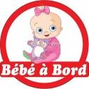 Sticker autocollant enfant Bébé à bord Bébé 16x16cm réf 3576