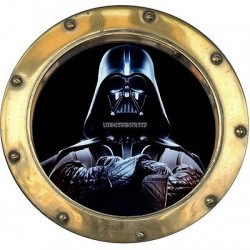 Sticker hublot enfant Star Wars Dark Vador 9565