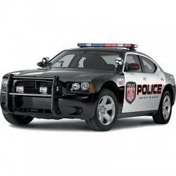 Sticker autocollant Voiture Police US Police US 7