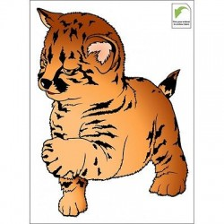 Sticker mural enfant bébé Léopard bébé léopard