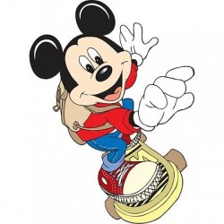 Sticker enfant Mickey Skate 3752