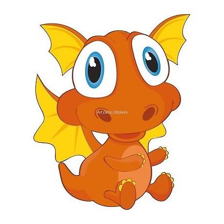 Sticker enfant Bébé dragon 916