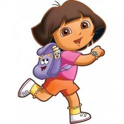 Sticker enfant Dora, sticker chambre d'enfant Dora
