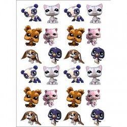 sticker Autocollant enfant Littlest Pet Shop E067