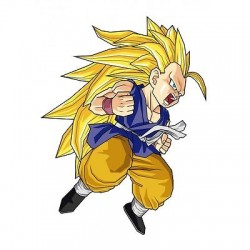 sticker Autocollant enfant manga Goku-GT-SS3 E059
