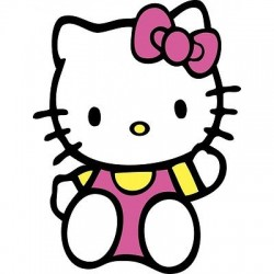 sticker Autocollant enfant hello Kitty E055
