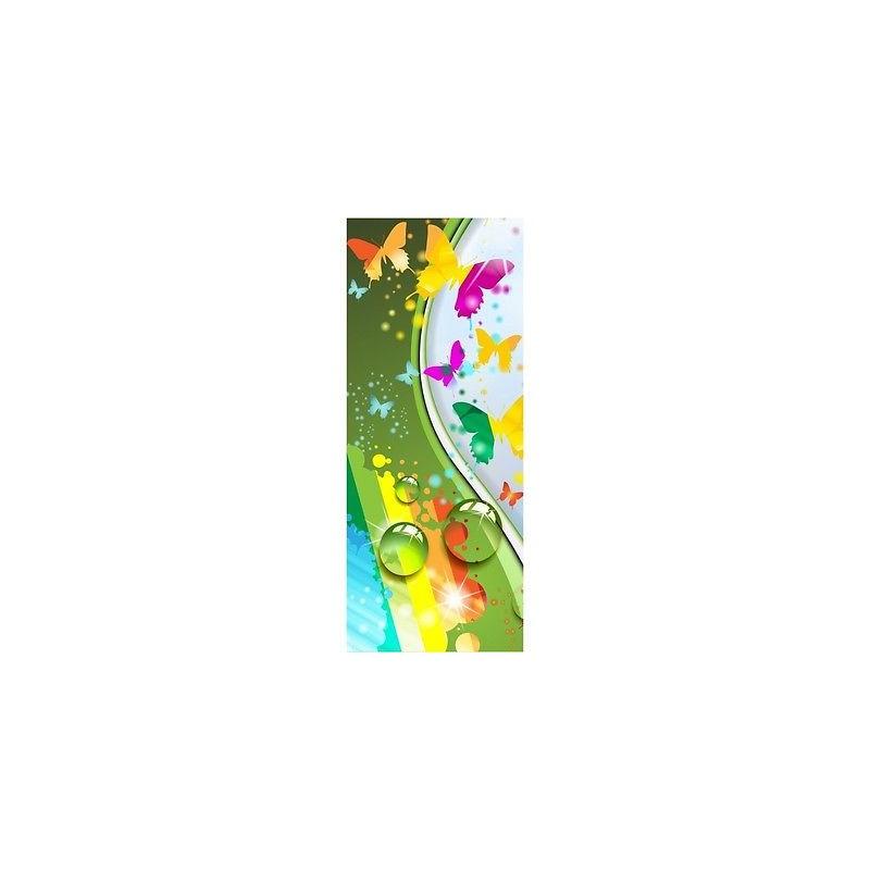 papier peint porte enfant papillons design 1737 stickers muraux enfant. Black Bedroom Furniture Sets. Home Design Ideas