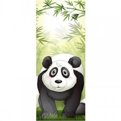 Papier peint porte enfant Panda Bambous 1733