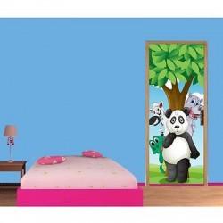 Papier peint porte enfant Panda 1724