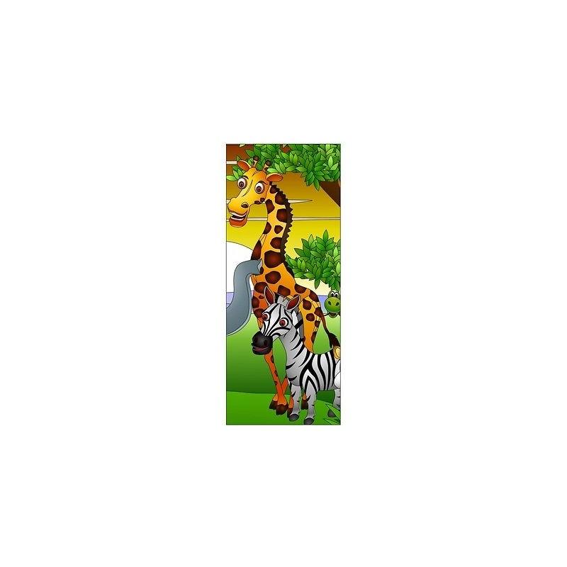 Papier peint porte enfant animaux 721 stickers muraux enfant for Papier peint pour porte