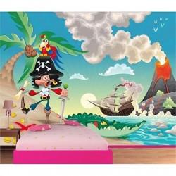 Papier peint enfant géant pirate 614