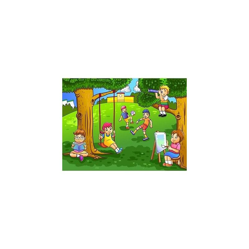 ... ou papier peint géant > Papier peint enfant géant Enfants parc 2013