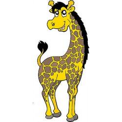 Sticker enfant Girafe réf 3501 (Dimensions de 10 cm à 130cm de hauteur)
