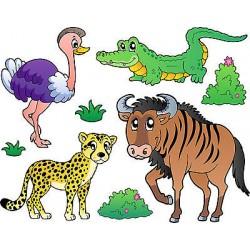 Stickers kit enfant planche de stickers Animaux ref 3688