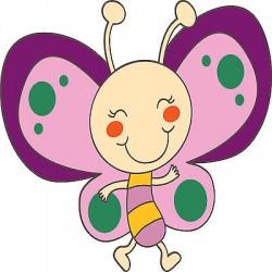 Sticker enfant Papillon réf 3503 (Dimensions de 10 cm à 130cm de hauteur)