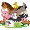 Stickers muraux enfant Animaux de la ferme réf 3630