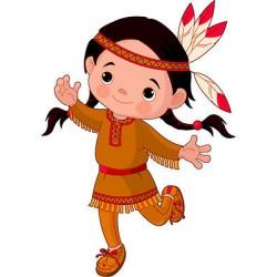 Stickers autocollant muraux enfant indienne réf 3621 (30 dimensions)
