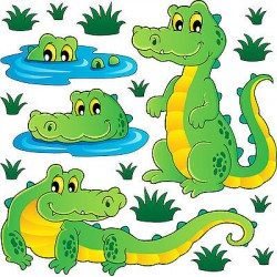 Stickers kit enfant planche de stickers Crocodiles réf 3720