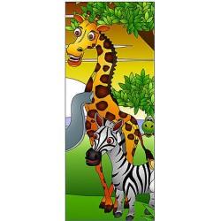 Sticker enfant porte Animaux Girafe réf 1721