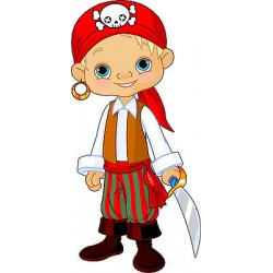 Stickers muraux enfant jeune pirate réf 3580