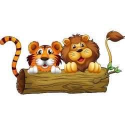 Stickers enfant Lion Tigre réf 3578