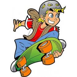 Stickers muraux enfant Skateur réf 3570 (30 dimensions)