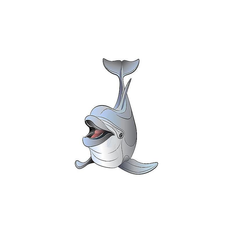 Stickers autocollant muraux enfant dauphin r f 3704 for Autocollant muraux