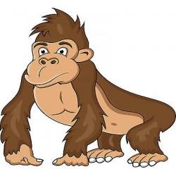 Stickers enfant Gorille réf 3659 (Dimensions de 10cm à 130cm de largeur)