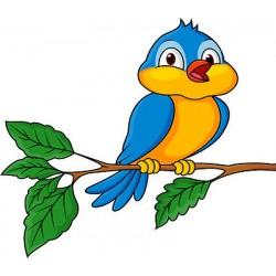 Stickers enfant Oiseau branche réf 3654 (Dimensions de 10cm à 130cm de largeur)