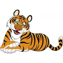 Stickers enfant Tigre réf 3651 (Dimensions de 10cm à 130cm de largeur)
