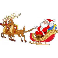 Stickers enfant Père Noel réf 3647 (Dimensions de 10cm à 130cm de largeur)