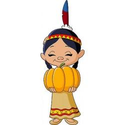 Stickers autocollant muraux enfant Indienne réf 3643 (30 dimensions)