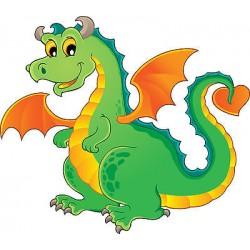 Stickers muraux enfant dragon réf 3637
