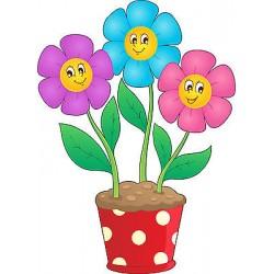 Stickers autocollant muraux enfant Pot de fleurs réf 3635 (30 dimensions)